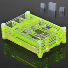 Clear Acrylic Case Box Enclosure Shell+3PCS Aluminum Heatsink For Raspberry Pi 3