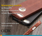 iPhone 6 SE Genuine Leather Case Skin w Deerskin Textured + Tempered Glass Film