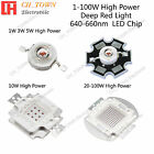 100w high power led - 1w 3w 5w 10w 20w 30w 50w 100w Deep Red 640-660nm High Power SMD LED Chip Beads