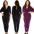Women Long Sleeve Bodycon Sexy V-Neck Bandage Rompers Clubwear Dress Jumpsuits