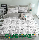 Fashion Comfortable Cotton Quilt Cover Sets Flat Pillowcases Single Queen King