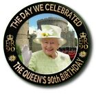 "THE DAY OF THE QUEENS 90th BIRTHDAY~ WINDSOR ~ SOUVENIR FRIDGE MAGNET~2.2""/55 mm"