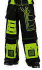 NEW DEAD THREADS BLACK YELLOW STRAPS TROUSERS PANTS CYBER GOTH PUNK RAVE 30-38