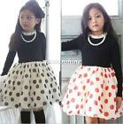 2016 Fashion Kids Baby Girl Polka Dot Layered Tutu Skirt Ballet Dance Dress 2-7T