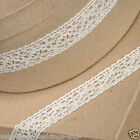Full Roll Cotton Lace Ribbon 25mm x 10m - Ivory - Vintage Wedding, Cards, Sewing
