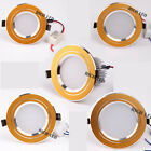 Golden Trim 3W 5W 7W 9W 12W LED Ceiling Fixture Recessed Lamp Down light +Driver