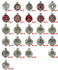 D Leaf Flower Butterfly Star Web Heart 30mm Pad Locket Aromatherapy Diffuser