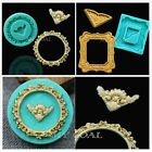 3D Mirror Photo Frame Vintage Silicone Fondant Mould Cake Decor Sugar Icing Mold