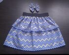 "Handmade ruffled layered Girls Skirt and matching 4"" hair bow any sizes 12M - 8Y"