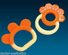 Baby's First Teether Set ~Orange & Yellow Teething Ring Boys & Girls Gift
