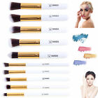 10PCS Beauty Oval Cream Puff Toothbrush Foundation Power Makeup Brushes Tool