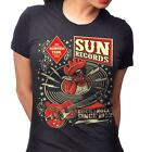 Sun Records Womens Rooster Hop T-Shirt Rockabilly Retro Vintage Country Cash