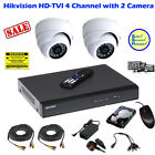 HIKVISION HDTVI 4 Channel CCTV DVR & 2x HD-TVI 720P Dome Camera (CCTV Kit)