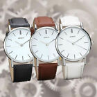 Geneva Men Women Fashion Watch Stainless Steel Leather Analog Quartz Wrist Watch image