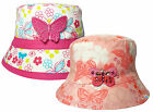 Girls Bush Hat Butterfly & Floral Design 100% Cotton Summer Sun Bucket Cap New