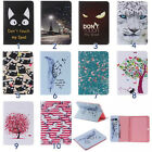 Cartoon Painting Leather Folio Wallet Case Cover For Samsung Galaxy Tab 48