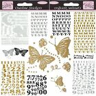 Anita's Glitterations Peel Off Stickers Alphabet Numbers Birthday Silver Gold