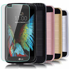 Hybrid Shockproof Bumper Armor Hard Cover Case+Glass Screen Protector For LG K10