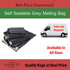 Grey Mailing Bags Poly Postal Postage Post Mail Self Seal Cheap All Sizes Strong