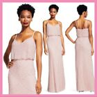 NEW Adrianna Papell Embellished Blouson Gown in Blush Pink SZ 12  A284