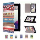 Patterned Folio Leather Case Cover Stand for Amazon Kindle Fire HD 7 8 10 2015