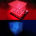 3D Light Squared 8x8x8 LED Cube Blue / Red Ray DIY Kit
