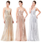 New Ladies Formal Long Ball Gown Party Prom Bridesmaid Evening Dress Size 4-18