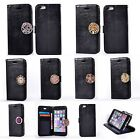 Coin Moneda Wallet Flip PU Leather+Soft Interior Case Cover F Mobile Phone-Black