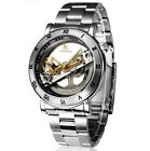 New Wristwatch IK Colouring Hollow Out Self Wind Mechanical 50m waterproof