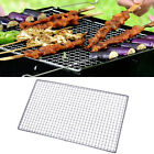 Picnic Outdoor Metal Rectangle Shape Barbecue Tool Grilling Net Mesh Silver Tone