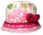 Baby Toddler 3D Rose Design Bush Hat Girls Summer Cotton Bucket Frill Cap