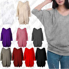 Womens Ladies Celebs Cut Cold Shoulder Batwing Baggy Loose Shirt Top Tunic