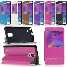 New Flip View PU Leather Soft TPU Case Cover Stand for Samsung Galaxy Note4 N910