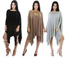 Fashion Women's Loose Casual Long Sleeve Party Evening Cocktail Short Dress New