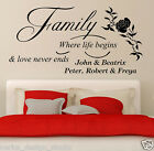 WALL QUOTES Personalised Wall Quote Stickers Family Wall Decal Stickers  N82