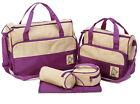 5pcs Mummy Tote Bag Baby Diaper Changing Mat Bags Mummy Handbag Maternity Bags