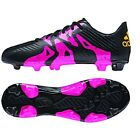adidas X 15.3 TRX FG / AG 2015 Soccer Shoes Cleats New Black - Pink Kids Youth