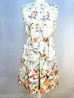 ZARA CREAM PLEAT FLORAL DRESS SIZE MEDIUM_LARGE REF 2717 786