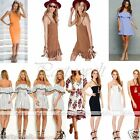 New Women Faux Suede/Chiffon Dress Deep-V Off Shoulder Fomal Sexy Casual Party
