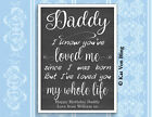 DADDY WE'VE LOVED YOU OUR WHOLE LIFE Design Print Framed Father's Day Birthday