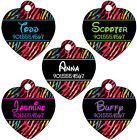 Disney Rainbow Print Pet Id Tag for Dogs & Cats Personalized w/ Name & Number