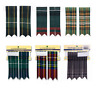 More images of Mens 100% Polyviscose Kilt Hose Flashes - Various Tartans - with Garters