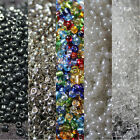 Round glass seed beads, various colours, 2mm, 3mm, 4mm