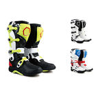 WOO New Fashion Men Leather Waterproof Colorful Motorcycle Racing Boots All Size