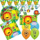 Jungle Party Animal Lion Childrens Birthday Party Tableware Decorations Supplies