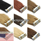 skin weft hair extensions - Seamless Tape in Skin Weft Hair Extensions Brazilian Remy Human Hair AAAAAA+ US