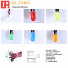 20pcs 3 5 8 10mm DC 9-12V Pre-Wired Diffused White Red Blue Green LED Diodes USA