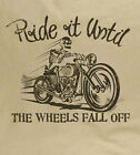 Ride It Until The Wheels.. Cafe Racer Classic Motorcycle Triton  Natural T-shirt