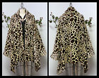 Plus size Giraffe Print Asymmetrical Velboa Warm (Velvet)Swing Jacket Coat.
