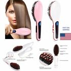 Hair Straightener Comb Galvanizing LCD Auto Temperature Control Iron Brush Massager